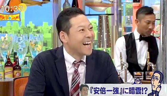 ワイドナショー画像 東野幸治「安倍首相の短気が悪い方向に出た」 2017年7月16日