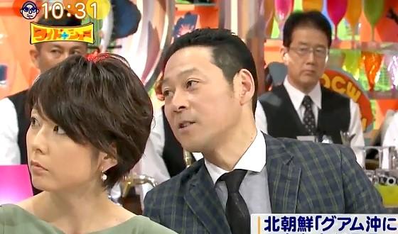 ワイドナショー画像 東野幸治が軍事ジャーナリストの黒井文太郎に北のミサイルについて質問 2017年8月13日