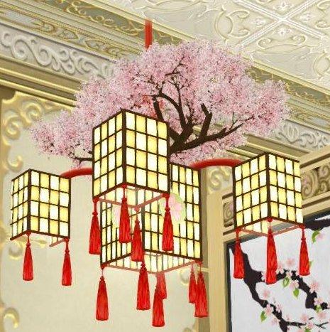 20180404桜の吊るし行灯