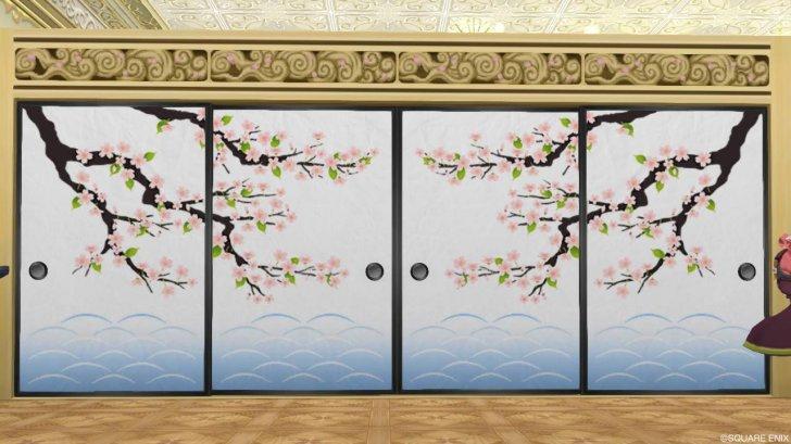 20180404桜柄のふすま