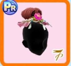 お花付きの髪結