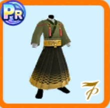 よもぎ色の袴