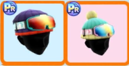 ゴーグルとニット帽