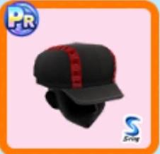チェック柄キャスケット帽