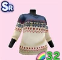 トライバルVネックセーター