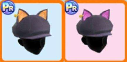 ハロウィン猫耳帽子