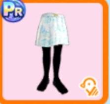 パステル水玉スカート