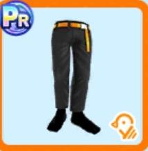 ブラック綿パンツ