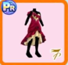 ベルベットドレス(赤)