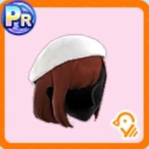 ホワイトベレー帽