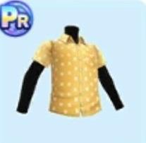ポルカドットシャツ