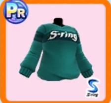 ロゴグリーンセーター