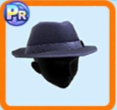 和柄リボンのソフト帽