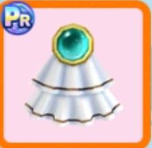 宝石付きフリルブローチ