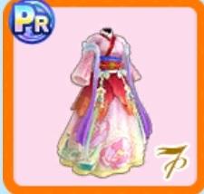 桃色の宮廷風衣装