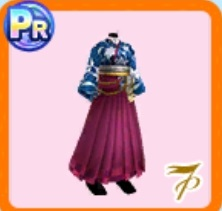 瑠璃色の袴