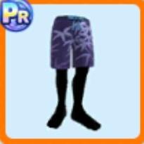 笹柄の半ズボン