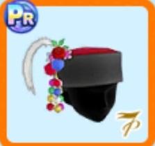 羽飾り付き帽子