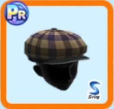 英国風キャスケット帽