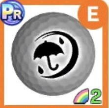 銀メダルボール(雨)