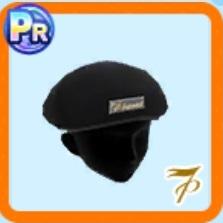 革のベレー帽