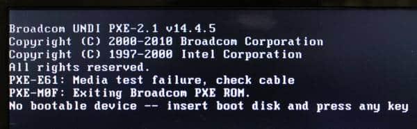 No bootale deviceと出てPCが開かない時は?|パソコン故障の