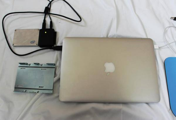 MacbookAirに接続