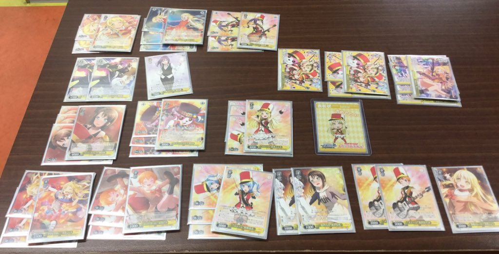 WS優勝デッキレシピBanG Dream!2018/07/18
